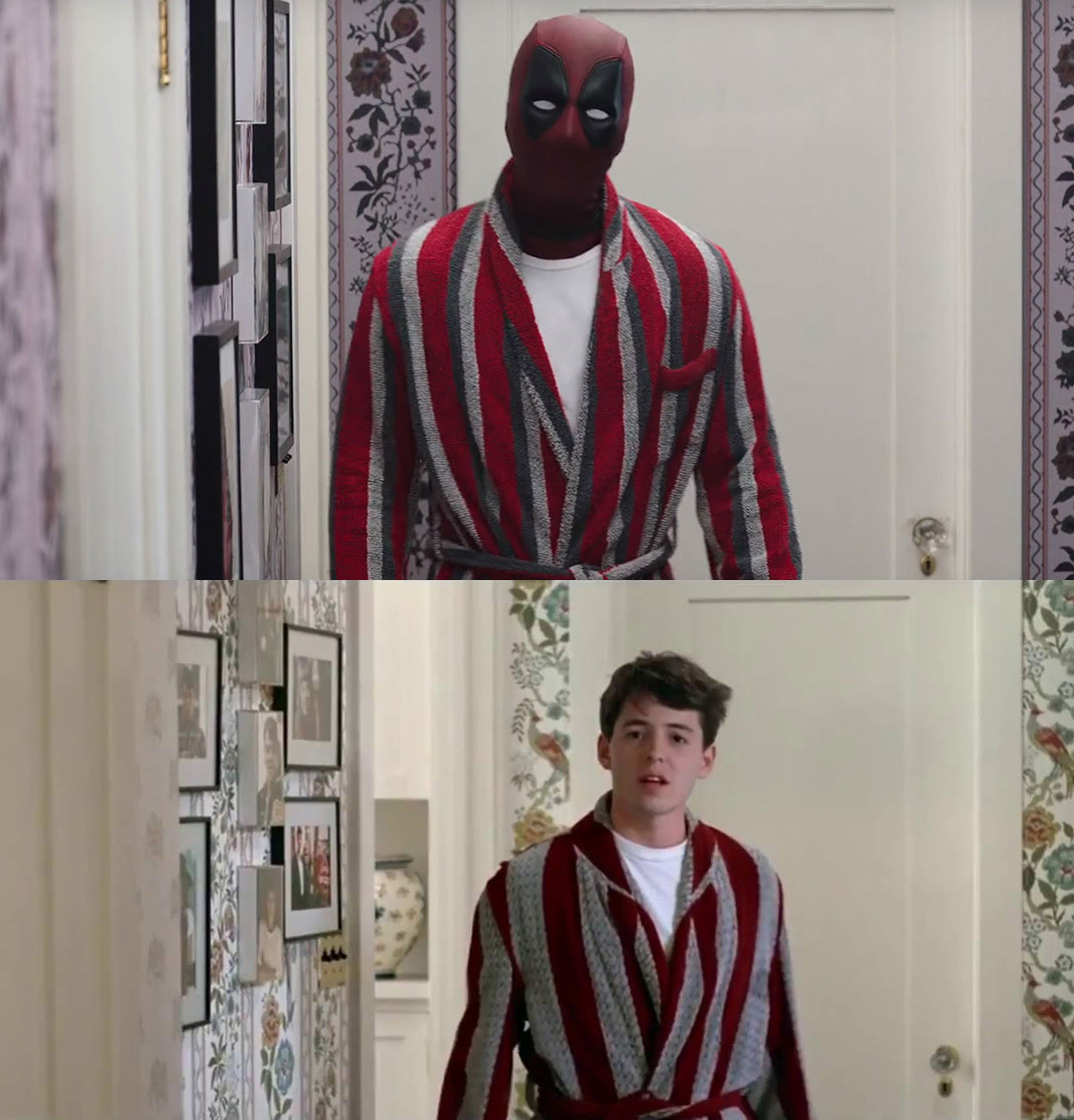 DEADPOOL (2016) and FERRIS BUELLER'S DAY OFF (1986)