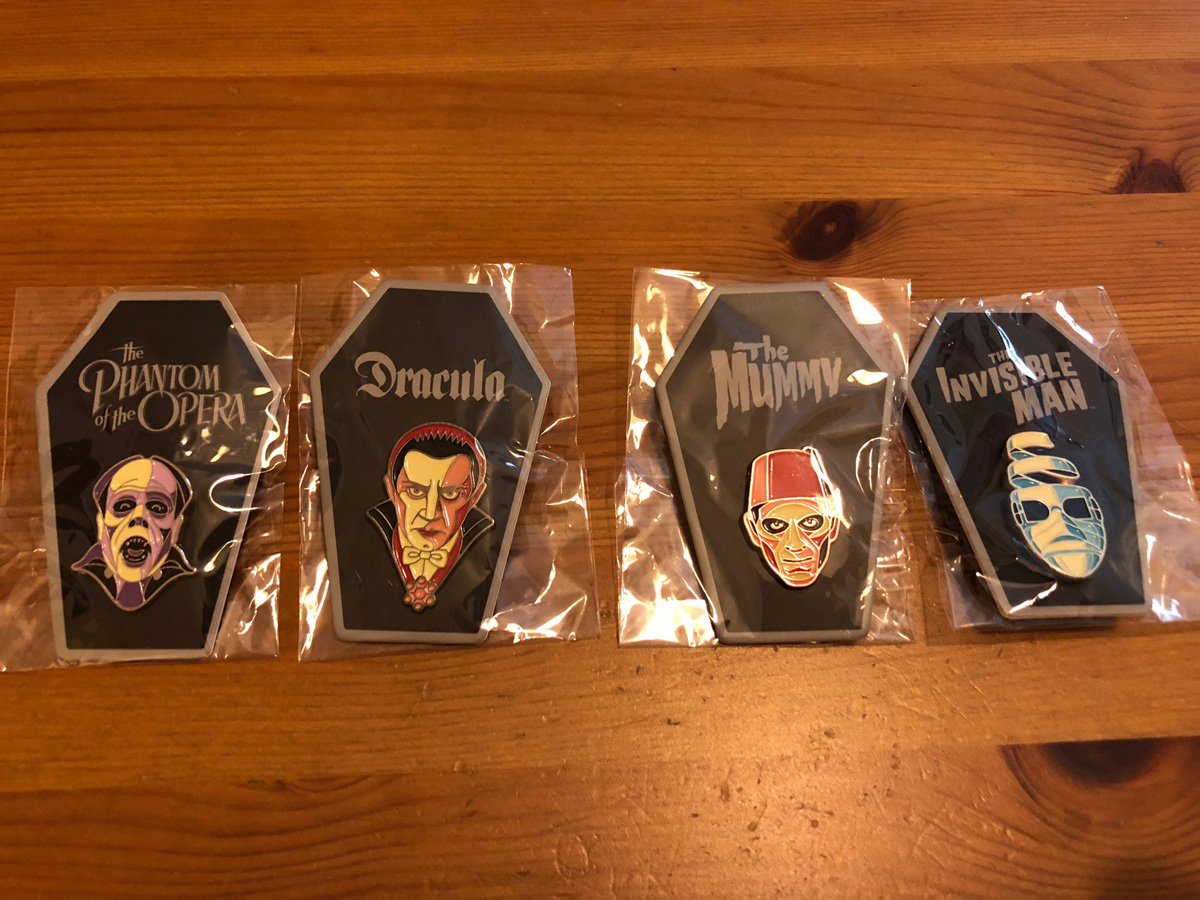 Mondo Universal Monster Pins