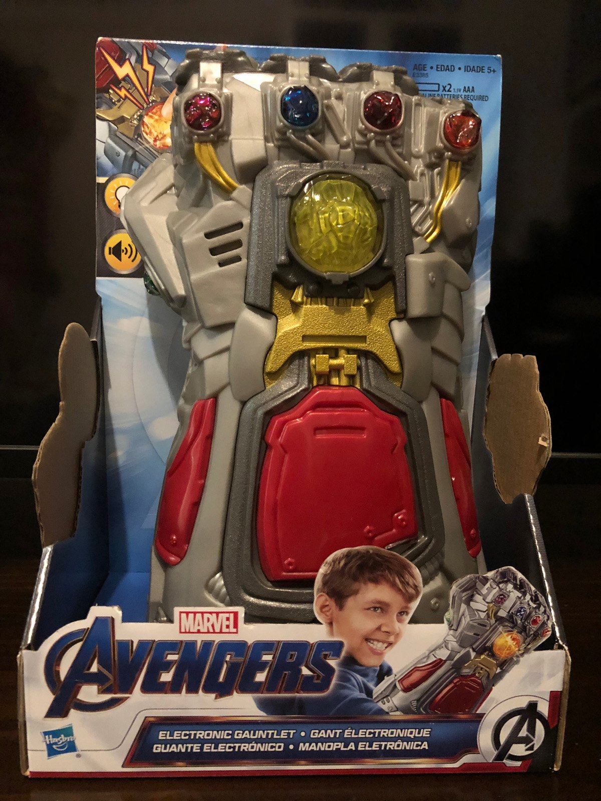 Endgame Red Infinity Gauntlet Electronic Fist