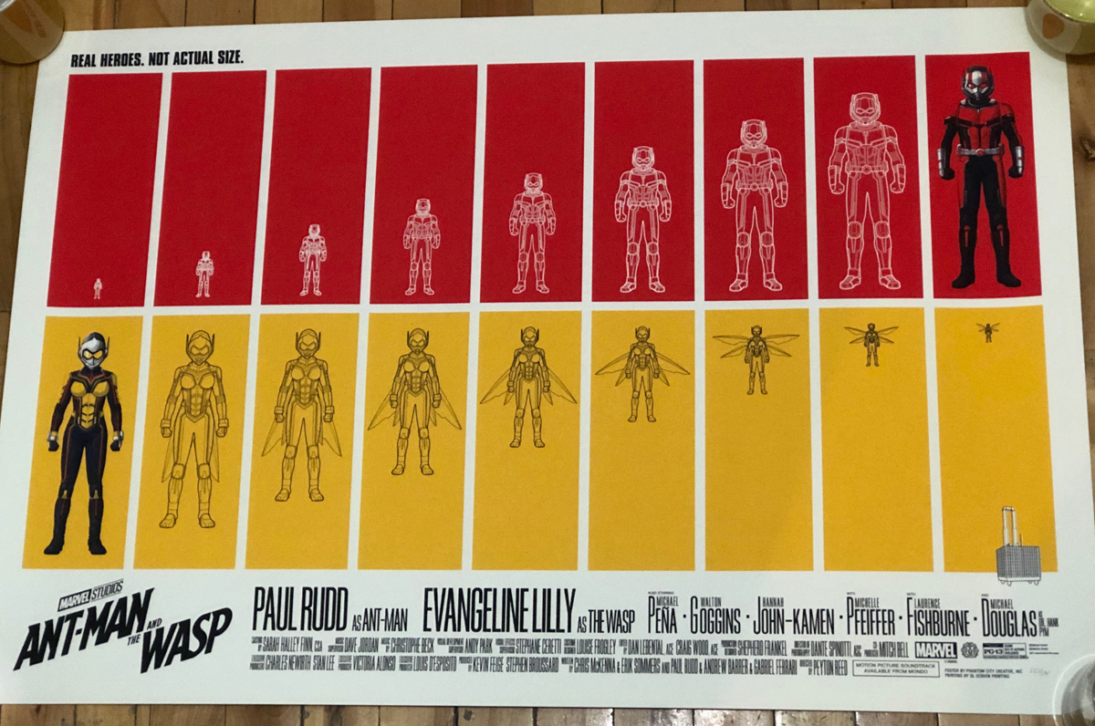Ant-Man and the Wasp Screenprinted Poster