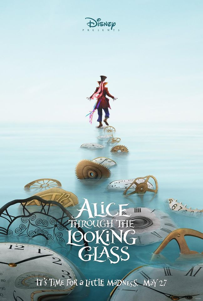 Image result for alice through the looking glass poster