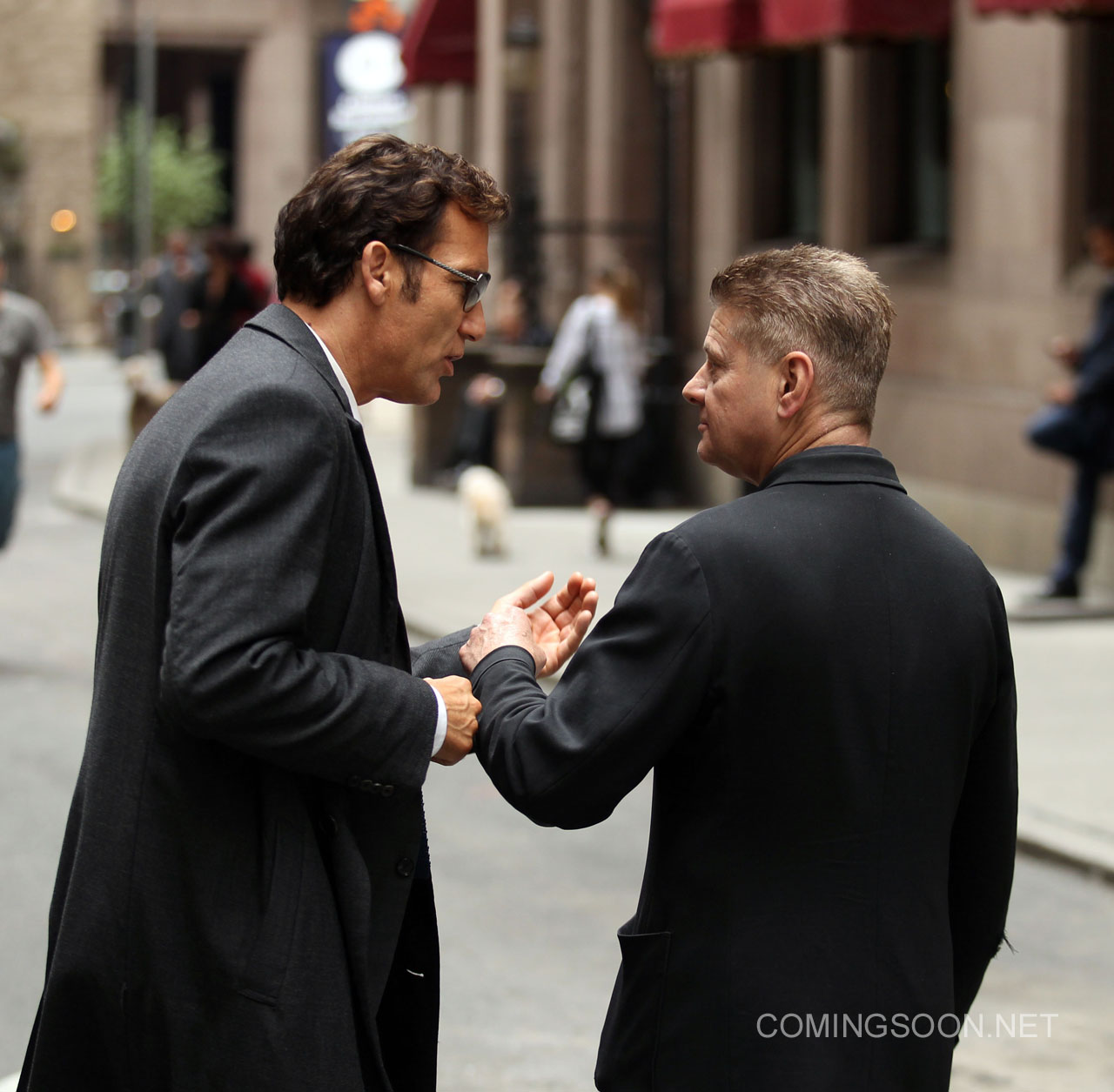 Clive Owen and Andrew Niccol