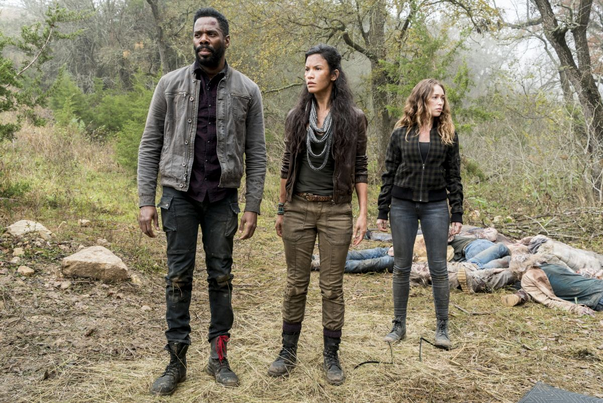Colman Domingo as Victor Strand, Danay Garcia as Luciana, Alycia Debnam-Carey as Alicia Clark - Fear the Walking Dead _ Season 4, Episode 3 - Photo Credit: Richard Foreman, Jr/AMC