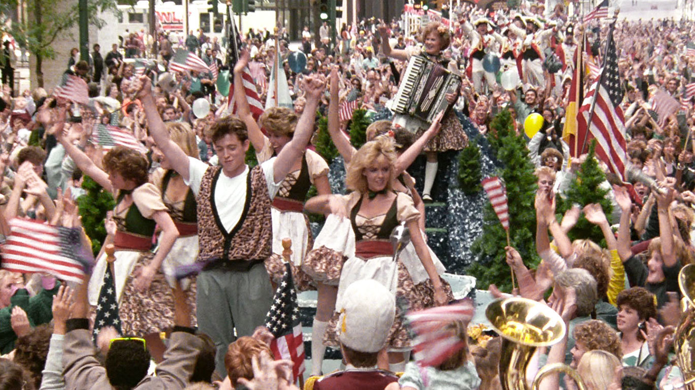 3:00 p.m. - Get on Parade Float During the Von Steuben Day Parade to Cheer Up Cameron