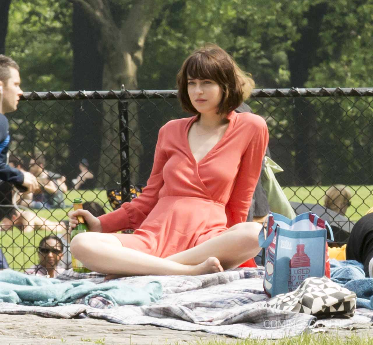 Dakota Johnson And Rebel Wilson In How To Be Single Set Photos How To Be  Single
