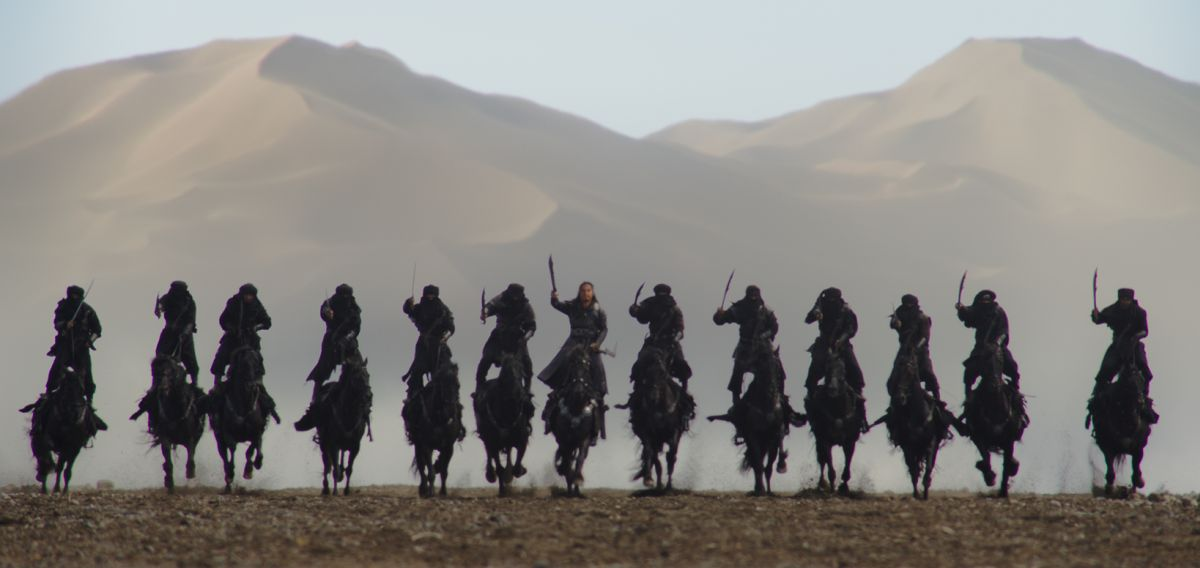 Disney's MULAN Bori Khan (Jason Scott Lee) and his troops Photo: Film Frame © 2019 Disney Enterprises, Inc. All Rights Reserved.