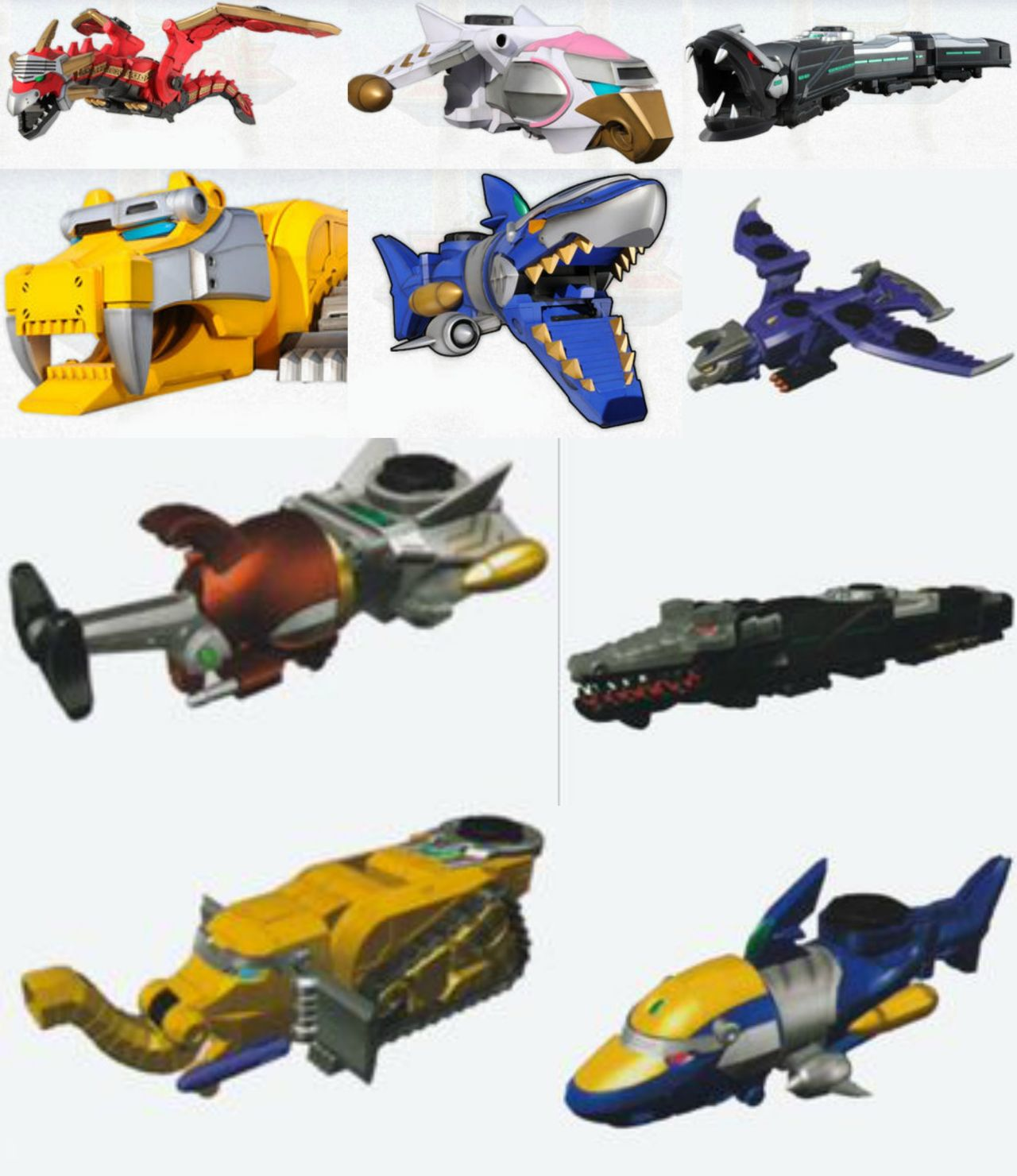 Power rangers zords a guide to their mighty morphin giant - Robot power rangers megaforce ...