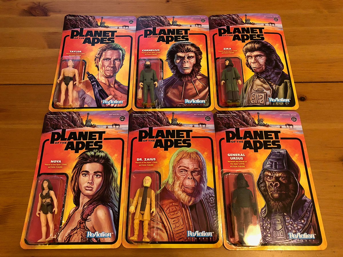 Planet of the Apes Reaction Figures
