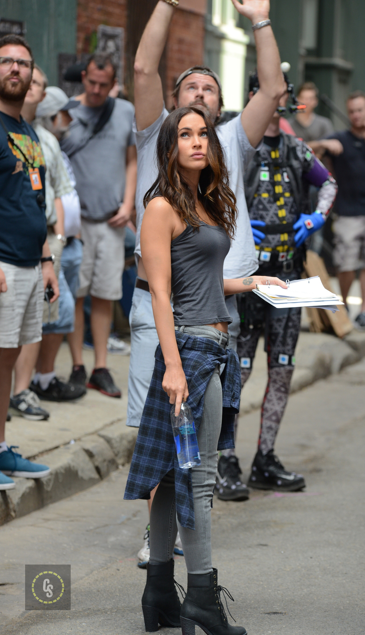 'Teenage Mutant Ninja Turtles 2' movie setFeaturing: Megan FoxWhere: Manhattan, New York, United StatesWhen: 12 May 2015Credit: TNYF/WENN.com