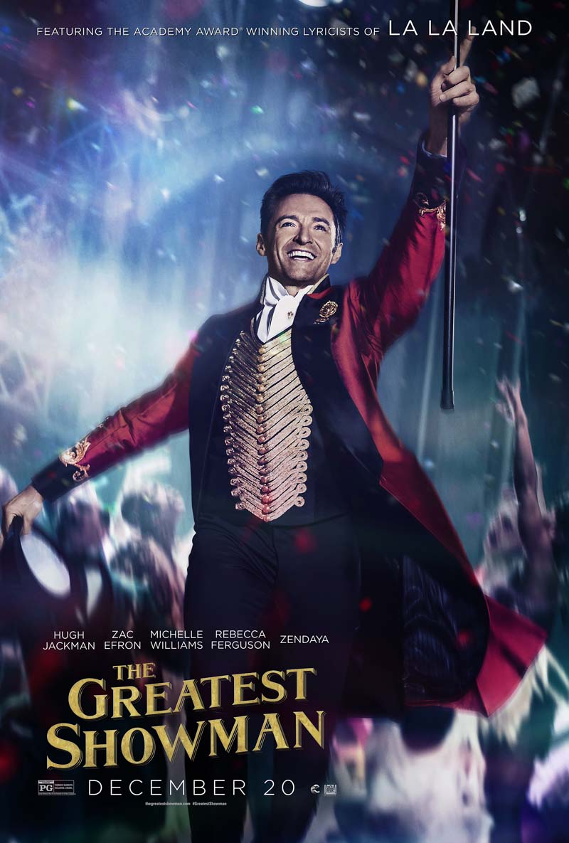 One of the posters of The Greatest Showman.