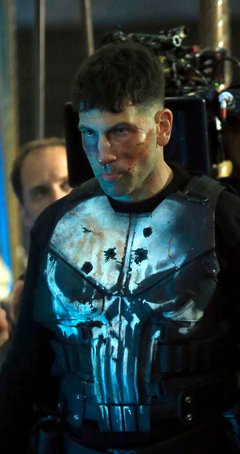 New Punisher Set Photos Frank Castle Brings Flowers