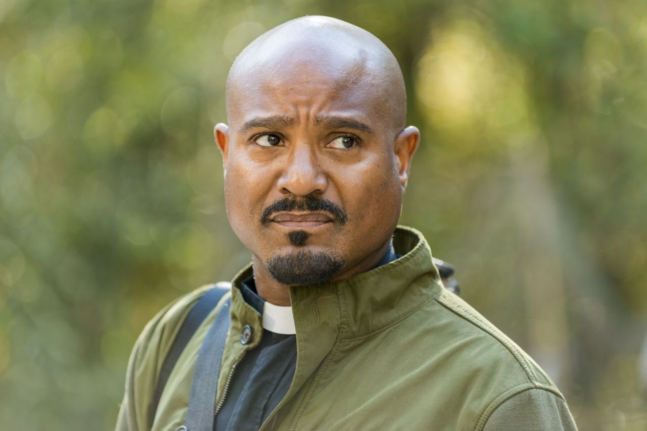 Seth Gilliam as Father Gabriel Stokes - The Walking Dead _ Season 7, Episode 15 - Photo Credit: Gene Page/AMC