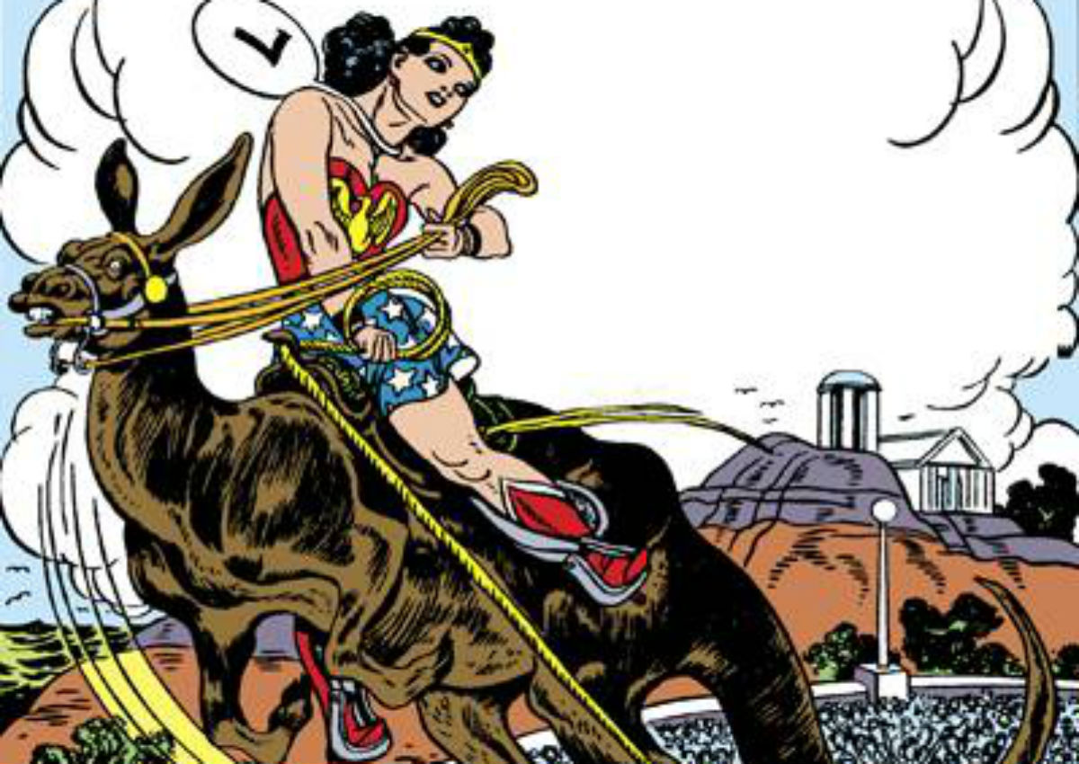 Wonder Woman and a Kanga